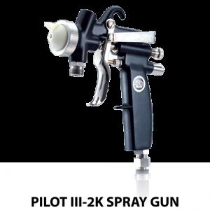 walther pilot iii2k plural component adhesive handheld spray gun