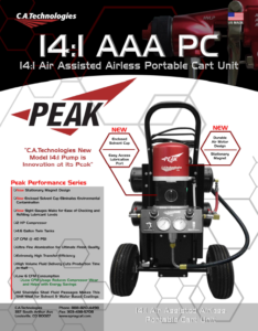 ca technologies portable air assisted airless complete spray setup 14:1