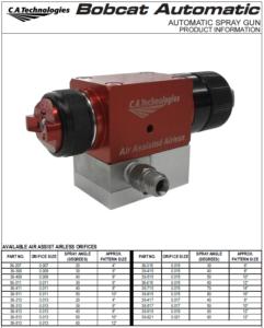 ca technologies bobcat automatic air assisted airless spray gun product manual