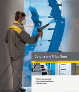 wagner tribo and corona manual and automatic powder coating guns