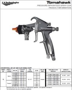 ca technologies tomahawk lightweight economy ergonomic handheld spray gun product manual
