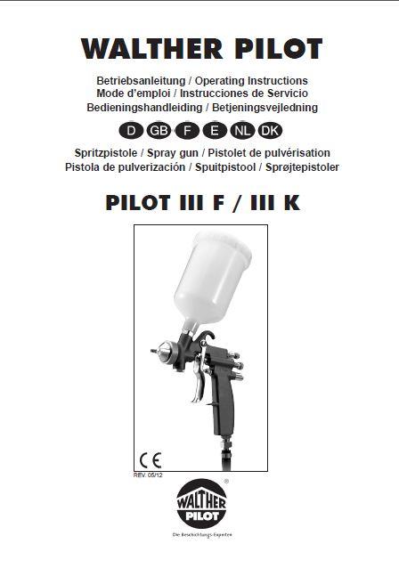 walther pilot iiik handheld adhesive spray gun product manual
