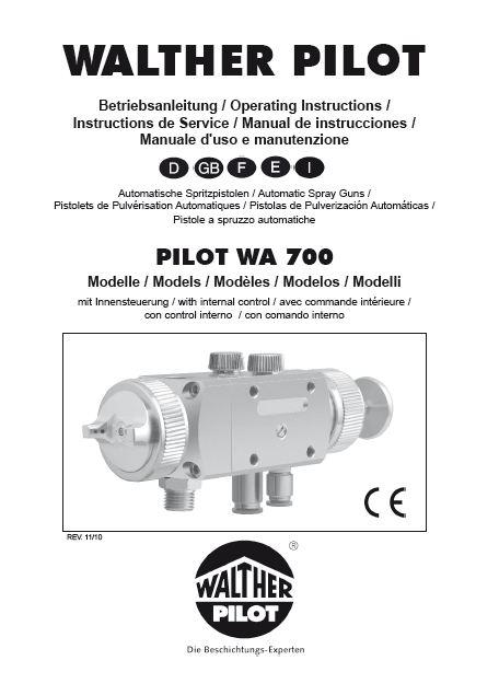 wa 700 automatic spray gun product manual